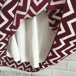 Fascination Dresses - Game Day Dress Maroon and White Chevron Size Small d389e9e5d